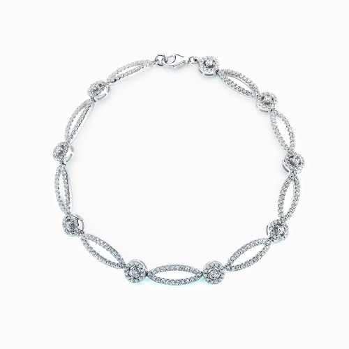 Bracelet with white stone-set marquise outlines. RE36274